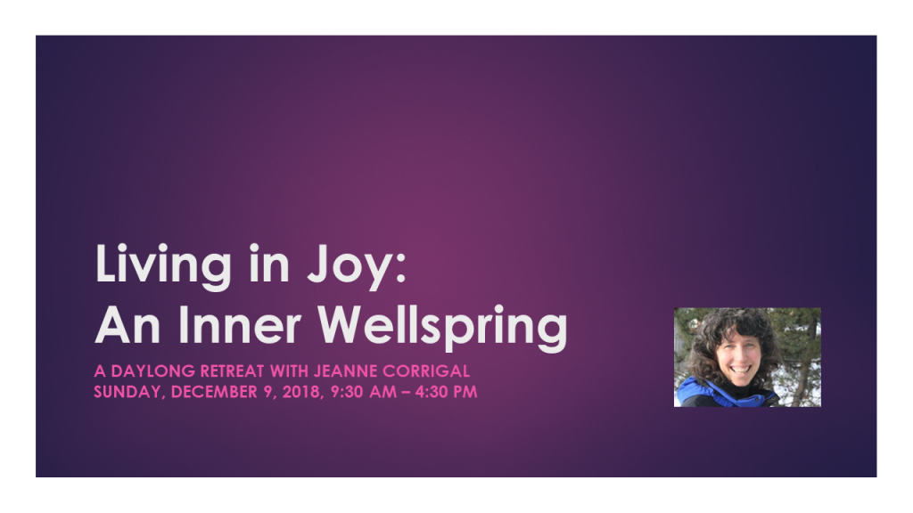 Living in Joy: An Inner Wellspring